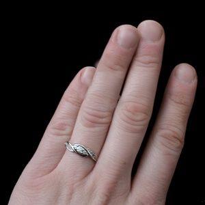 "ZALES White Gold & Diamond ""Eternity Promise Ring"""